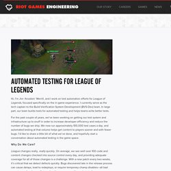 Automated Testing for League of Legends