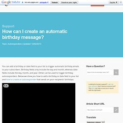How can I create an automatic birthday message