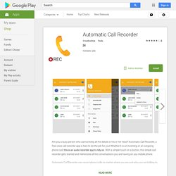 Automatic Call Recorder - Call Recording App