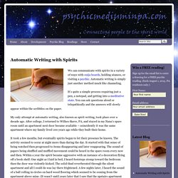 Automatic writing, spirit writing, afterlife communication