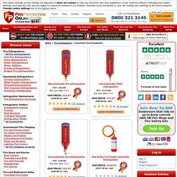 Automatic fire extinguishers, up to 53% discount - Next Day Delivery