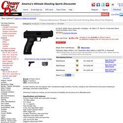 "Hi-Point 40SW Semi Automatic Handgun .40 S&W 4.5"" Barrel 10 Rounds Black Finish Includes Hard Case"