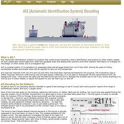AIS (Automatic Identification System) Decoding