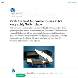 Grab the best Automatic Knives in NY only at My Switchblade