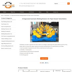 CE Approved Automatic Welding Rotators for Pipes Vessels Tanks Boilers – Leaderweldingrotator.com
