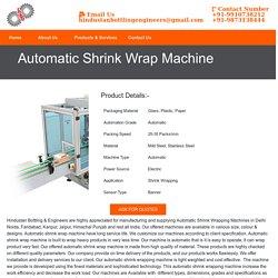 Automatic Shrink Wrap Machine Manufacturer Supplier India