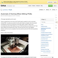 Automatic Z Homing When Milling PCBs · synthetos/TinyG Wiki
