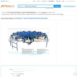 AUTOMATIC T-SHIRT SCREEN PRINTING MACHINE Sales, Buy AUTOMATIC T-SHIRT SCREEN PRINTING MACHINE Products from alibaba