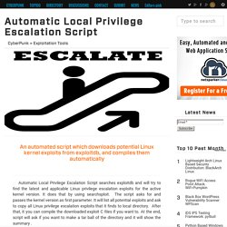 Automatic Local Privilege Escalation Script