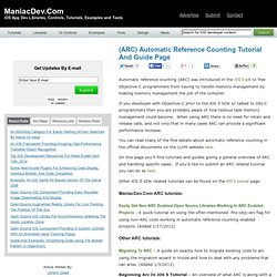 (ARC) Automatic Reference Counting Tutorial And Guide Page