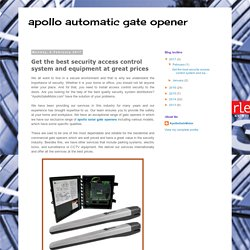 apollo automatic gate opener : Get the best security access control system and equipment at great prices