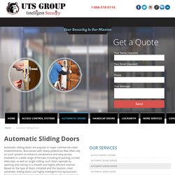Automatic Sliding Doors Maintenance