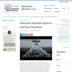 Automatic Sprinkler Systems and How They Work - AAA Public Adjusters, LLC