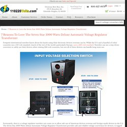 7 Reasons To Love The Seven Star 5000 Watts Deluxe Automatic Voltage Regulator Transformer