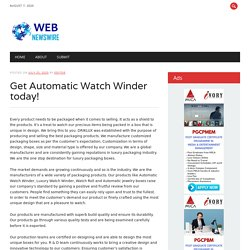 Get Automatic Watch Winder today!