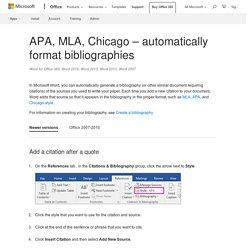 APA in Microsoft Word