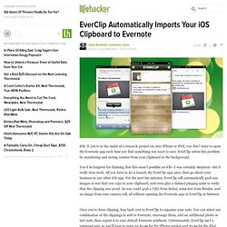 EverClip Automatically Imports Your iOS Clipboard to Evernote