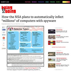 """How the NSA plans to automatically infect """"millions"""" of computers with spyware"""