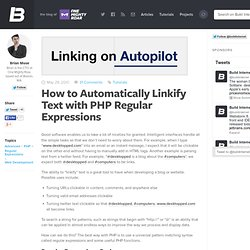 How to Automatically Linkify Text with PHP Regular Expressions | Build Internet!