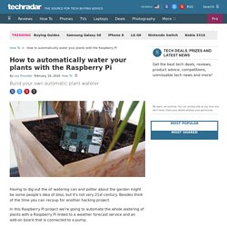 How to automatically water your plants with the Raspberry Pi