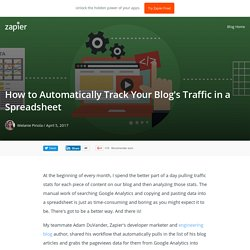 How to Automatically Track Your Blog's Traffic in a Spreadsheet