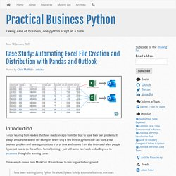 Case Study: Automating Excel File Creation and Distribution with Pandas and Outlook - Practical Business Python