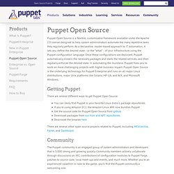 Puppet Open Source: IT Automation Software for System Administrators