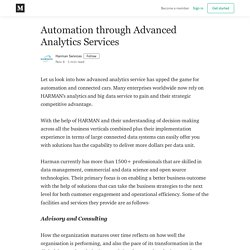 Automation through Advanced Analytics Services - Harman Services - Medium