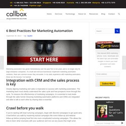 6 Best Practices for Marketing Automation