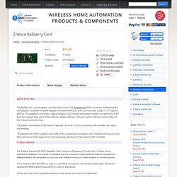 Z-Wave Home Automation Australia - Z-Wave RaZberry Card