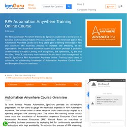 RPA Automation Anywhere Training