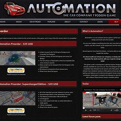 Automation | The car company tycoon game