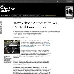 How Vehicle Automation Will Cut Fuel Consumption