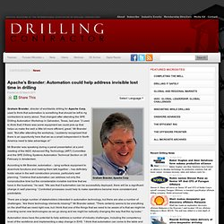 Apache's Brander: Automation could help address invisible lost time in drilling