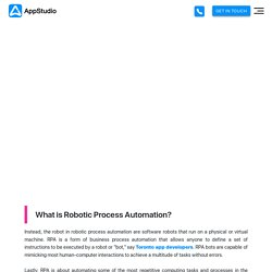 Robotic Process Automation Developers Services in Canada