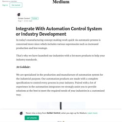 Integrate With Automation Control System or Industry Development