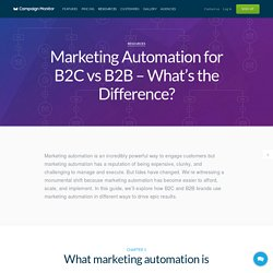 Marketing Automation for B2C vs B2B - What's the difference?