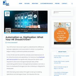 Automation vs. Digitisation: What Your HR Should Know?