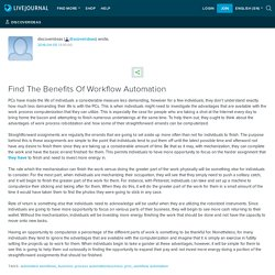 Find The Benefits Of Workflow Automation