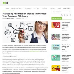 Marketing Automation Trends to Increase Your Business Efficiency