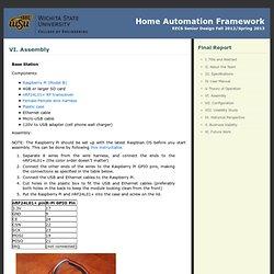 Home Automation Framework » VI. Assembly