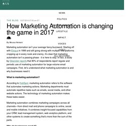 How Marketing Automation is changing the game in 2017