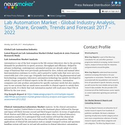 Lab Automation Market - Global Industry Analysis, Size, Share, Growth, Trends and Forecast 2017 – 2022