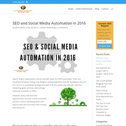 Social Media and SEO Automation in 2016