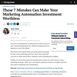 These 7 Mistakes Can Make Your Marketing Automation Investment Worthless