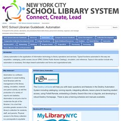 *Automation - NYC School Librarian Guidebook