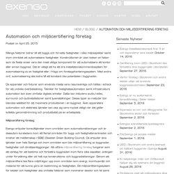 Automation och miljöcertifiering företag - Exengo
