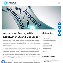 Automation Testing with Nightwatch JS and Cucumber