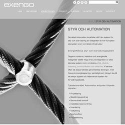 Automation, styr och övervakningssystem hos Exengo i Stockholm