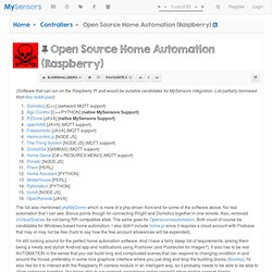 Open Source Home Automation (Raspberry)